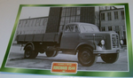 Borgward B544 1957 Flatbed Tipper truck framed picture